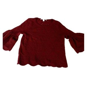 Sweet bell sleeved fall sweater